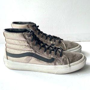 Vans SK8-Hi Slim Metallic Sneaker in Bronze Black